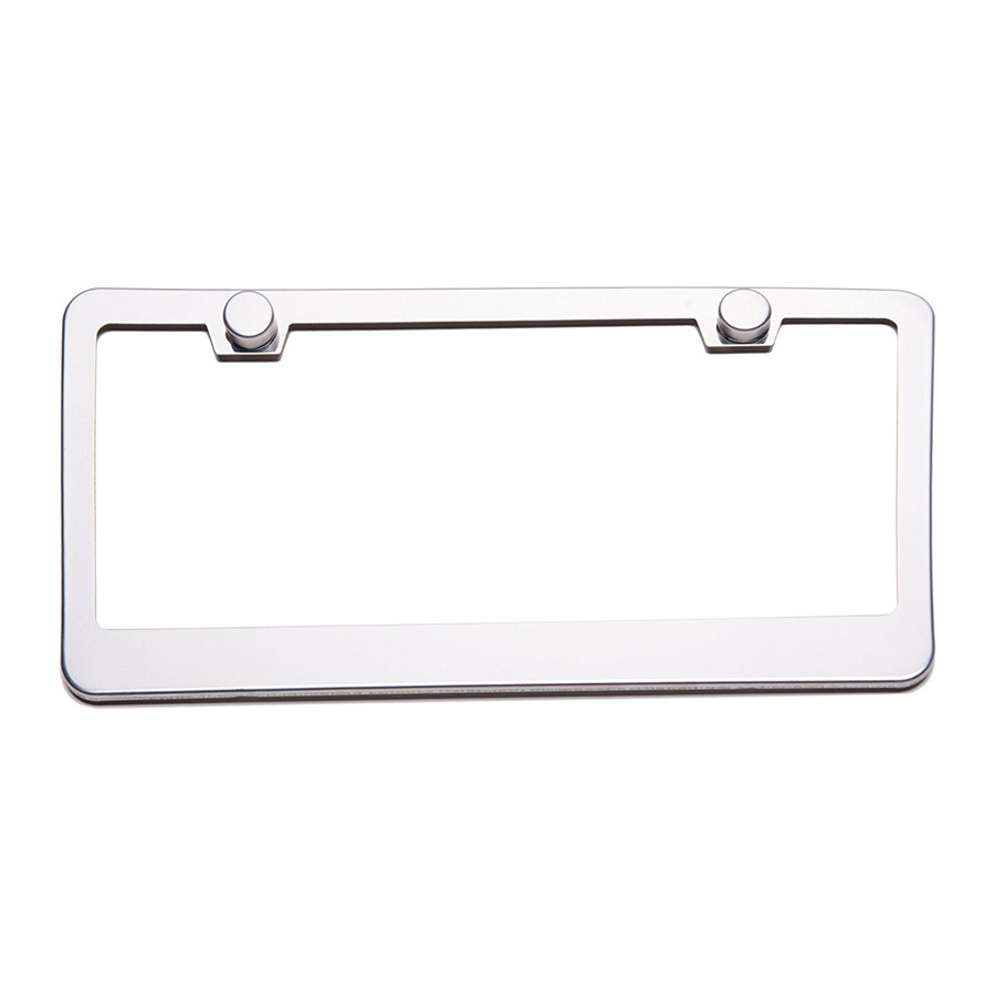 "2 Pcs 12/"" X 6/"" Stainless Steel License Plate Frame Cover +Screw Caps for US Car"
