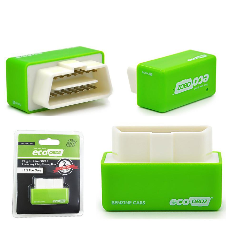 Green Eco OBD2 II Chip Tuning Box Fuel Saver Plug /& Drive Tool for Petrol Cars