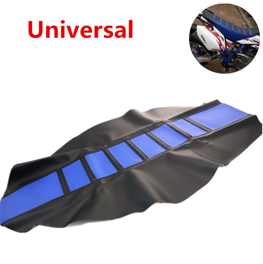 1pc Universal Motorcycle Dirt Bike Gripper Soft Seat Cover
