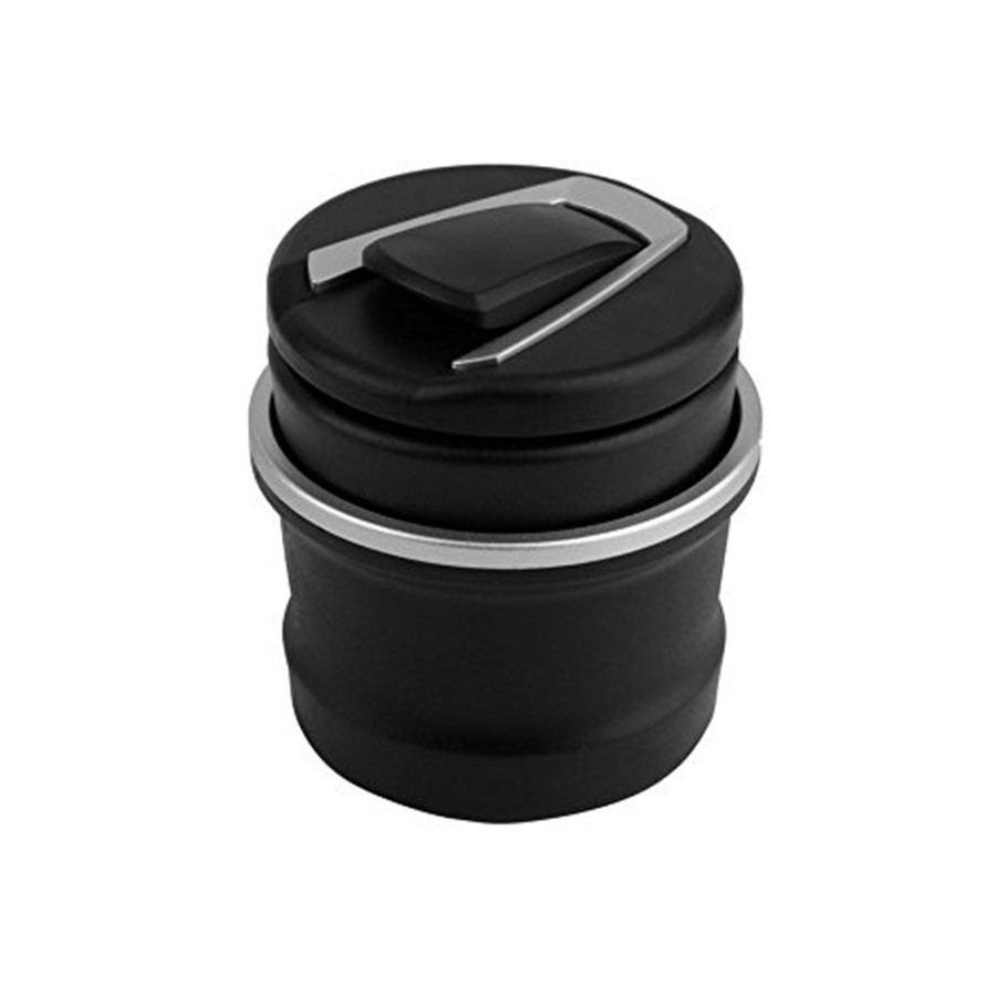 Car SUV Ashtray Tobacco Ash Tray Storage Cup Container Fireproof Black Plastic